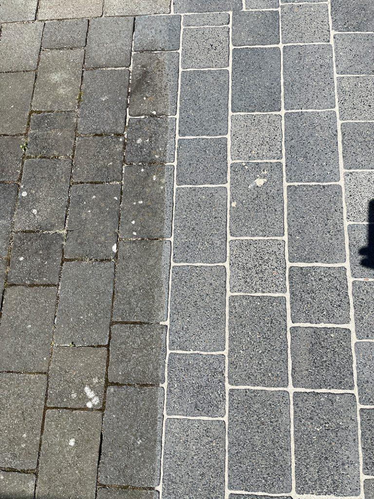 professionelle Stein- und Pflasterreinigung Vergleich